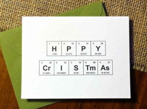 Happy chemistry Christmas