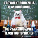 A Covalent Bond Yells At An Ionic Bond