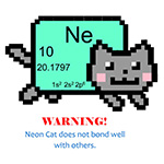 neon cat does not bond well with others