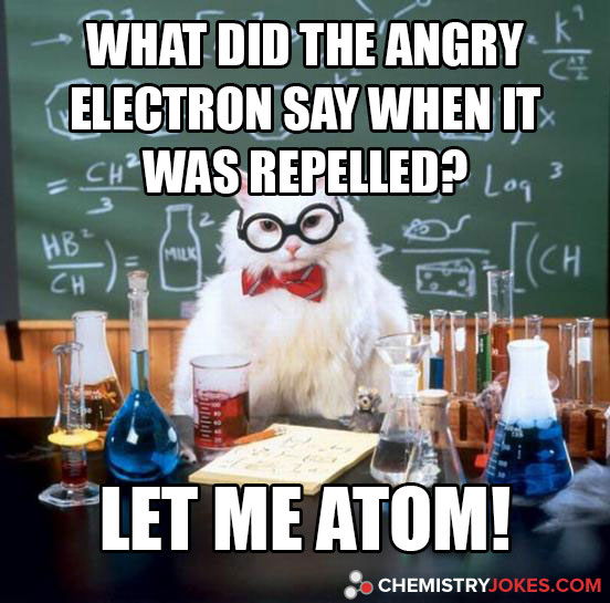 What Did The Angry Electron Say When It Was Repelled?