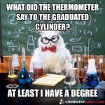 What Did The Thermometer Say To The Graduated Cylinder?