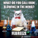 what do you call iron blowing in the wind