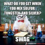 what do you get when you mix sulfur tungsten and silver