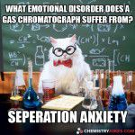what emotional disorder does a gas chromatograph suffer from