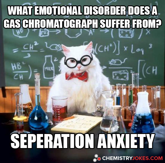 What Emotional Disorder Does A Gas Chromatograph Suffer From?