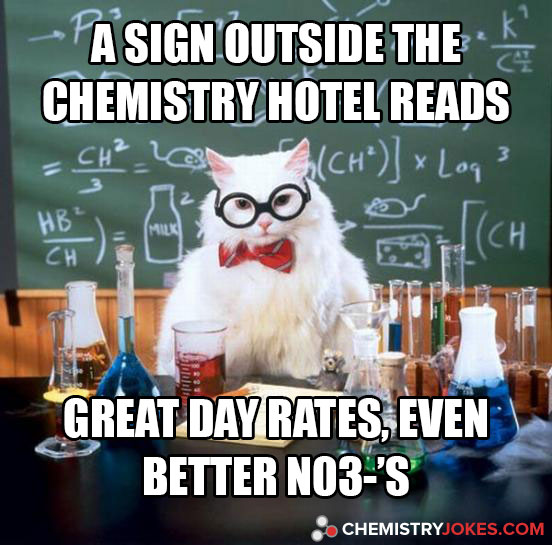 A Sign Outside The Chemistry Hotel Reads