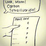 Look, Mom! Carbon Tetrafluride!